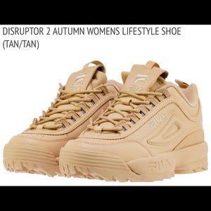 Tan Fila Women's Disruptor II Autumn Sneakers